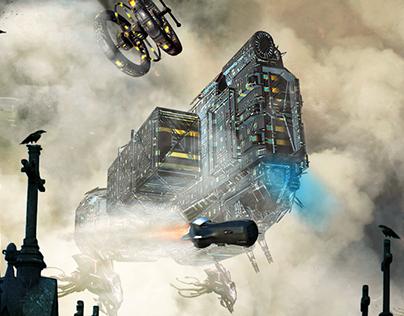 spaceship (2)....The invasion