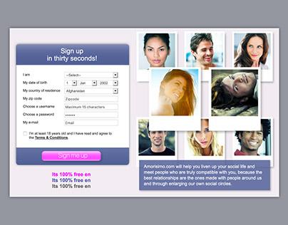 Web Design & Development for Dating Website