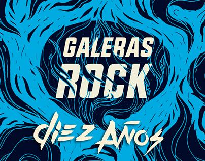 Galeras Rock X Años / Poster