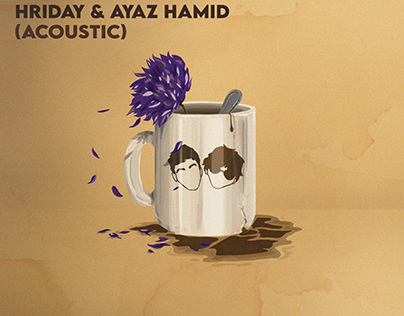 """Coverart for """" Caffeine """" by Hriday and Ayaz Hamid"""