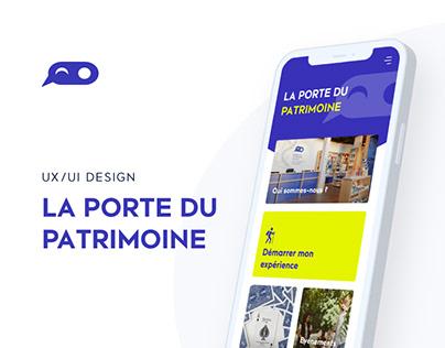 La porte du patrimoine - UX/UI Design