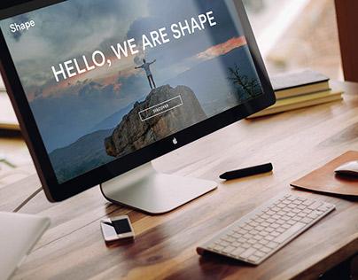 Shape Free Homepage UI kit - 2016