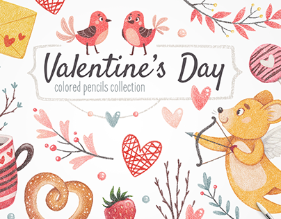 Valentine's Day Illustration Set