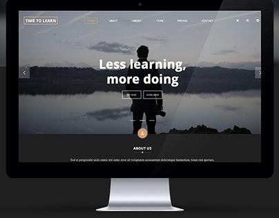 Landing page for learn web development