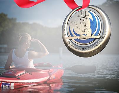 Medal design for canoe world university championship