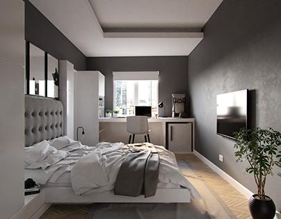 White-Grey Bedroom