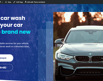 ThriveBiz Car Wash-Thrive Architect wordpress website
