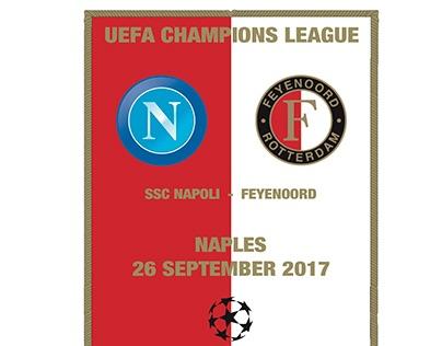 Napoli - Feyenoord Vlag Official Match