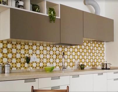 wooden tiles - kitchen