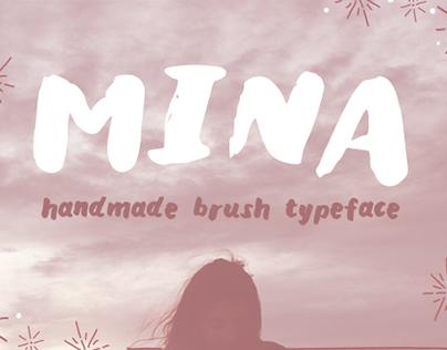 """""""Mina"""" Brush Typeface (FREE)"""