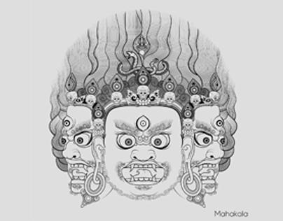 Mahakala Tri Head