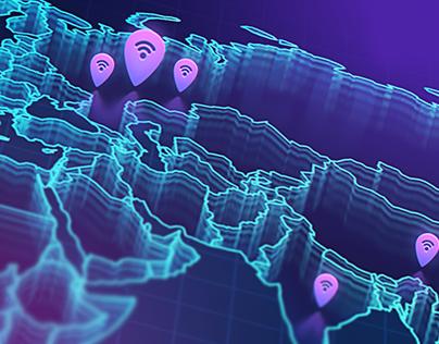 World Wi-Fi blockchain startup infographics