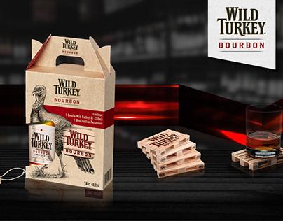 Empaque Wild Turkey con Porta-vasos