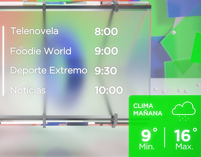 TV Ident - Javascript Dynamic Content + Weather Widget