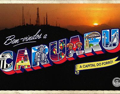 Lettering Postcard - Caruaru
