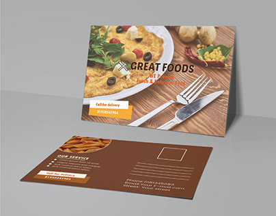 Restaurant Post card Design