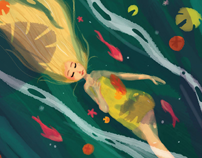 The Lovely Girl Illustration