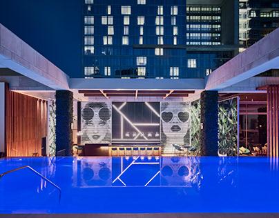 Waldorf Astoria Dubai IFC opening photoshoot.