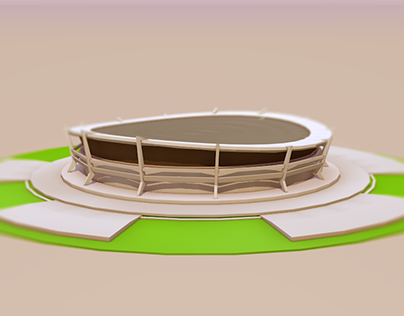 National Theatre Low Poly