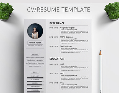 Premium CV/RESUME Template Design