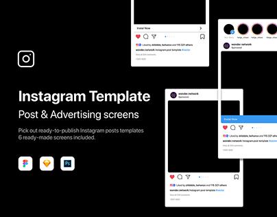 Instagram Template PSD | Sketch | Figma