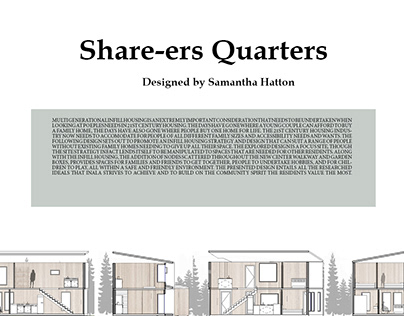 Share-ers Quarters - 21st Century Infill Housing