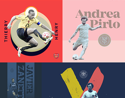 100 Day Project - Day 21–40 Footballers X Graphic