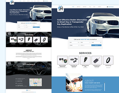 Modern PSD Template for Car and Auto Dealers