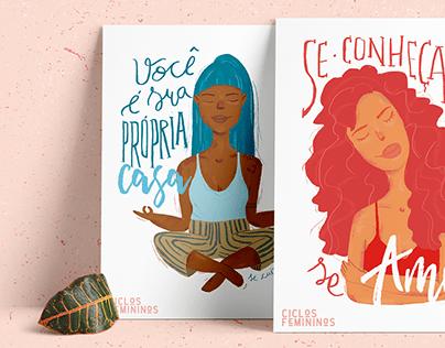 Ilustração | Ciclos Femininos