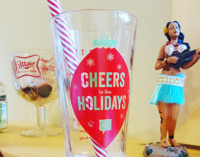 """KenndyC """"Cheers to the Ad Life"""" Holiday Invite"""