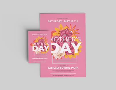 Mothers day flyer design