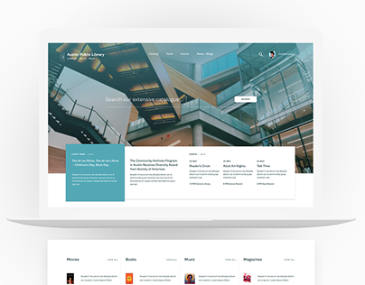 Library Website Redesign Concept