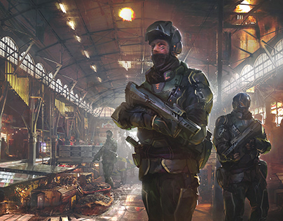 cyberpunk market