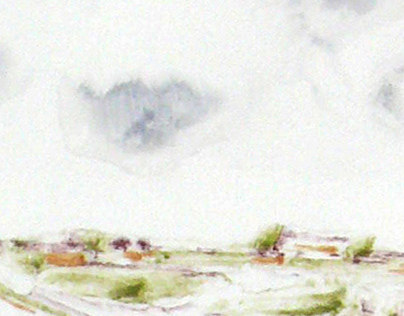 Set of 2 landscapes (monotype)