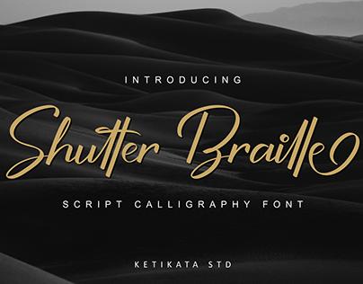 Shutter Braille Font