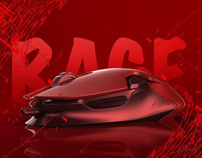 Rage-Gaming Mouse Design