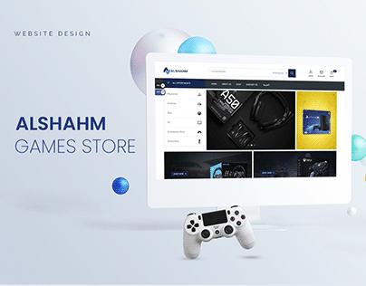 Al-shahm Games Store   Website Design