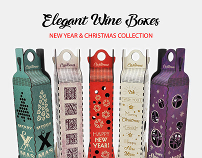 Elegant wine boxes - New Year & Christmas collection