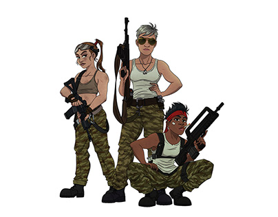 SOLDIER GIRLS SKETCHES