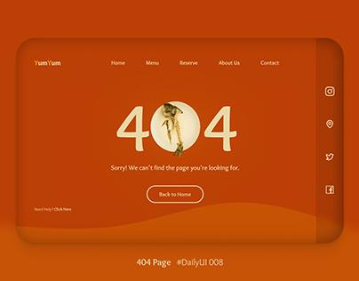 DailyUI - 008 (404 Page)