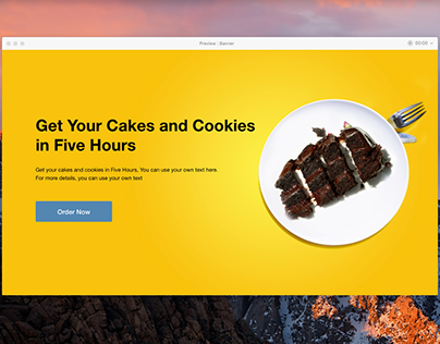 Header for Cakes and Cookies Website
