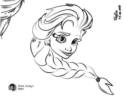 Queen Elsa of Arendelle by Tasfia Yeashna
