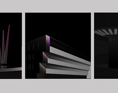 Socialist Modernist Architectural Illustrations