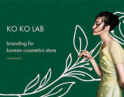 Cosmetics store branding