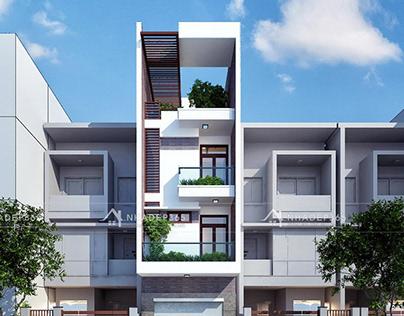 Thiết kế nhà phố 4 tầng diện tích 4,2×21,6m hiện đại tạ