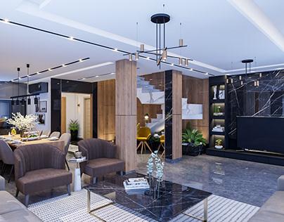 Animation Video interior design villa modern