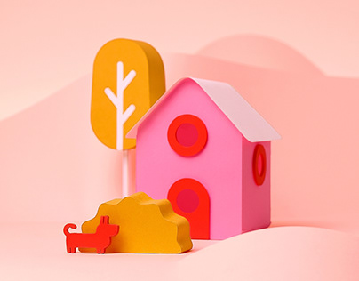 Papercraft illustrations for Ouders van Nu - part 3