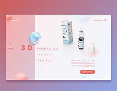 UI-UX Interface - 3D Product