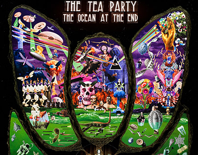 TEA PARTY, THE OCEAN AT THE END - CD COVER AND POSTER