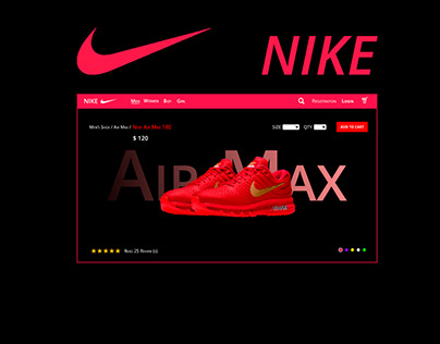 NIKE AIR MAX WEB DESIGN